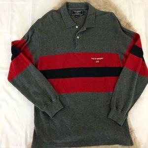 90s Ralph Lauren Polo Sport Long Sleeve Polo Sz M